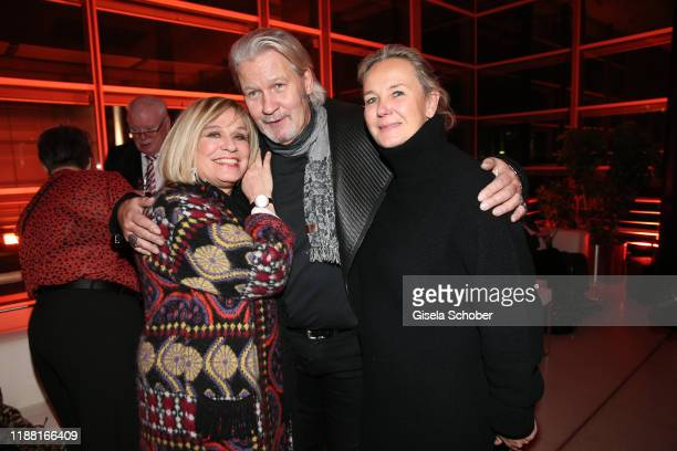 Singer Mary Roos and Johnny Logan and his partner Tanja Surmann during the 25th annual Jose Carreras Gala after party on December 12 2019 at Messe...