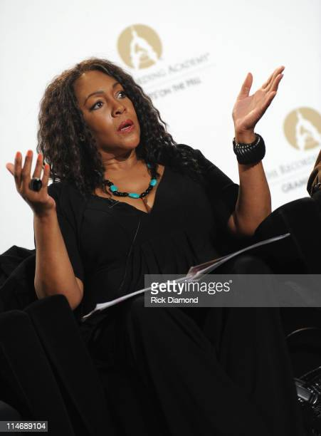 Singer Mary Wilson attends the Recording Academy's GRAMMY Town Hall dialogue held at the Los Angeles Convention Center on February 6 Los Angeles,...