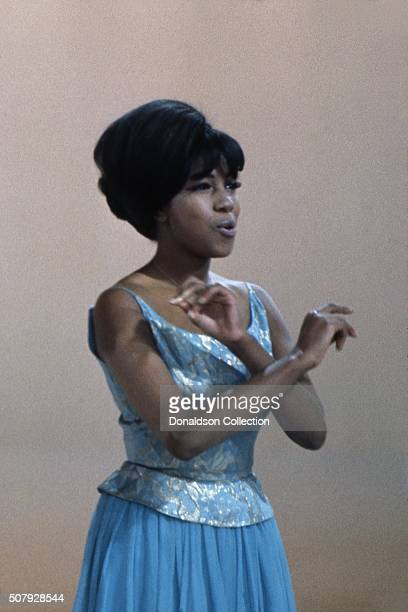 Singer Mary Wilson of the R and B Group 'The Supremes' during rehearsal for their performance on the TV show Hullabaloo on May 11 1965 in New York...