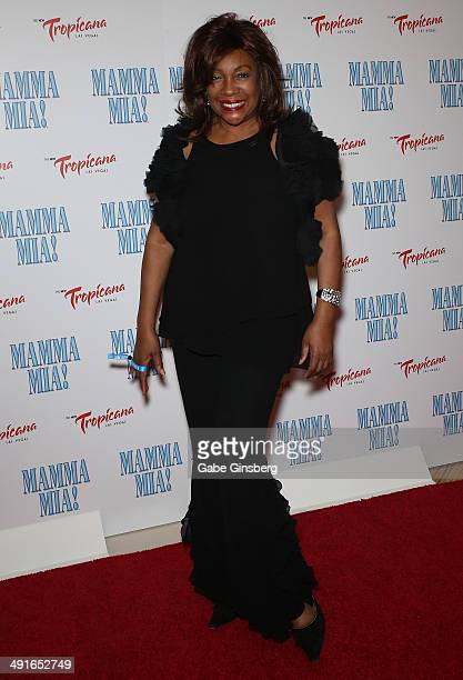 Singer Mary Wilson of The Supremes arrives at the grand opening of the show Mamma Mia at the New Tropicana Las Vegas on May 16 2014 in Las Vegas...