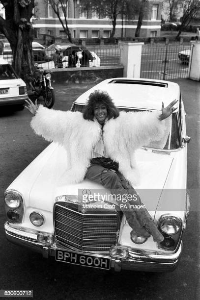 Singer Mary Wilson of the Supremes with the MercedesBenz 600 Pullman Limousine custom built for John Lennon in 1970 Lennon's pride and joy was being...