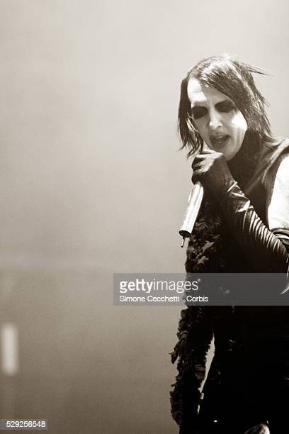 Singer Marylin Manson on stage during his concert in Rome