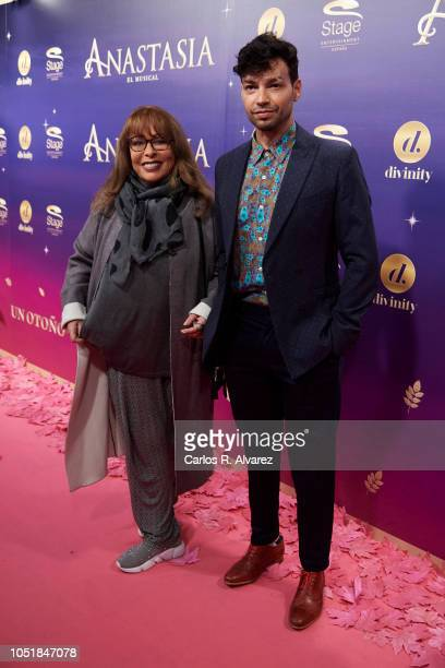 Singer Massiel and Paco Arrojo attend 'Anastasia The Musical' premiere at the Coliseum Teather on October 10 2018 in Madrid Spain