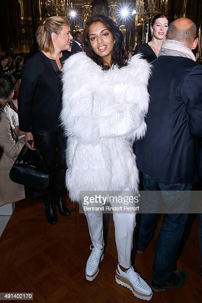 Singer Mathangi 'Maya' Arulpragasam alias MIA attends the Stella McCartney show as part of the Paris Fashion Week Womenswear Spring/Summer 2016 Held...