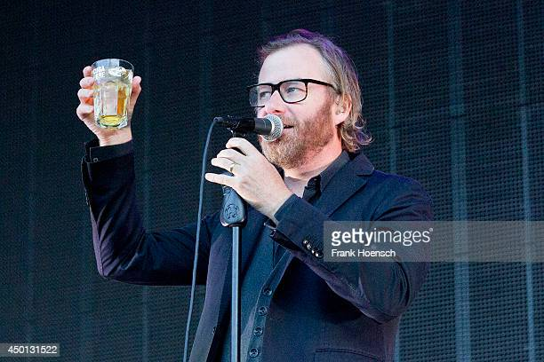 Singer Matt Berninger of the American band The National performs live during a concert at the Zitadelle Spandau on June 5 2014 in Berlin Germany
