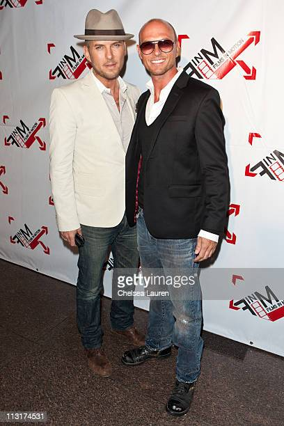 Singer Matt Goss and singer / actor Luke Goss arrive at the 'Blood Out' world premiere at Directors Guild Of America on April 25 2011 in Los Angeles...