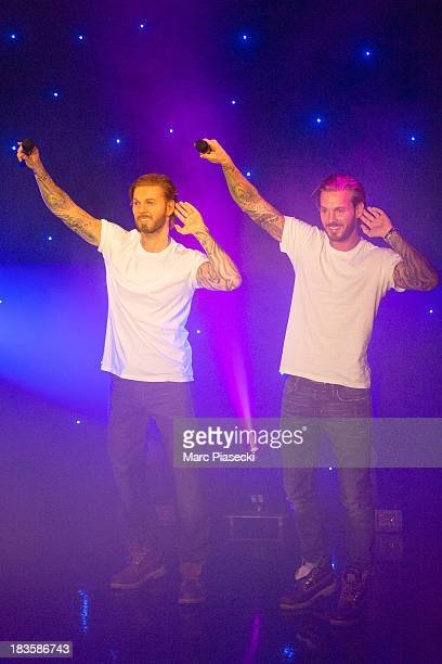 Singer Matt Pokora unveils his waxwork at Musee Grevin on October 7 2013 in Paris France