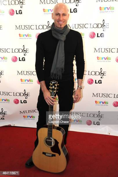 Singer Matt Scannell attends The 10th Anniversary LG Music Lodge At Sundance With Elio Motors And Tervis on January 20 2014 in Park City Utah