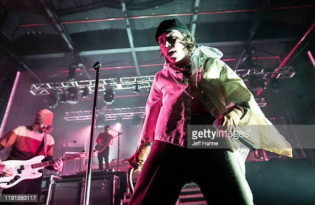 Singer Matt Shultz of Cage the Elephant performs at The Fillmore on December 02 2019 in Charlotte North Carolina