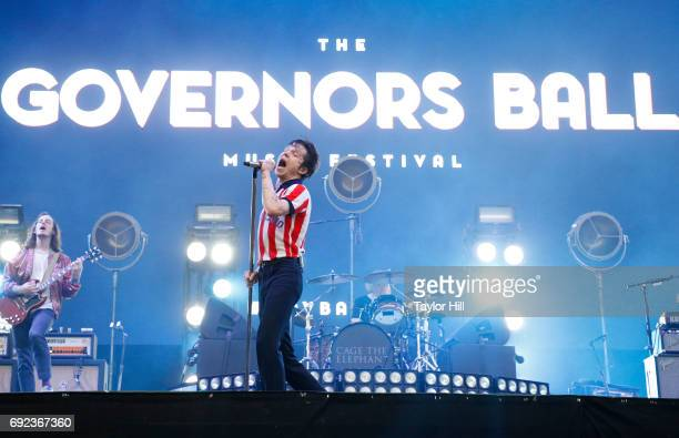 Singer Matt Shultz of Cage the Elephant performs live onstage during 2017 Governors Ball Music Festival Day 3 at Randall's Island on June 4 2017 in...