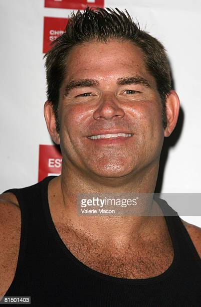 Singer Matt Zarley arrives at the Los Angeles Gay Pride on Santa Monica Boulvard on June 8 2008 in West Hollywood California