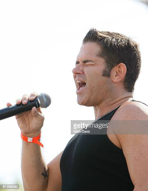 Singer Matt Zarley performs at the LGBT Pride festival held on June 8 2008 in Los Angeles California