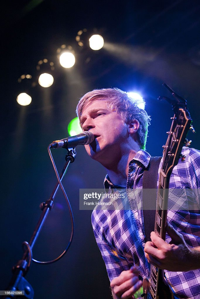 Singer Matthew Caws of Nada Surf performs live during a concert at the C-Club on November 14, 2012 in Berlin, Germany.