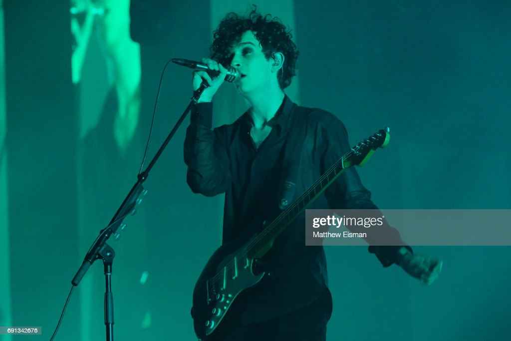 Singer Matthew Healy of the band The 1975 performs live on stage at Madison Square Garden on June 1, 2017 in New York City.