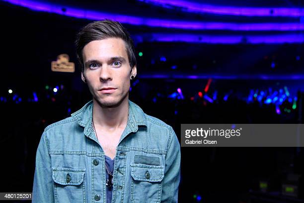 Singer Matthew Koma poses during 97.1 AMP RADIO's Amplify 2014 concert at the Hollywood Palladium on March 22, 2014 in Hollywood, California.