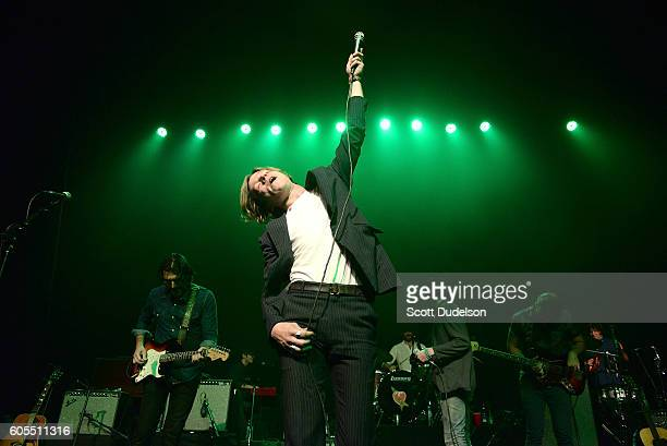 Singer Matthew Shultz of the band Cage the Elephant performs onstage during Petty Fest 2016 at The Fonda Theatre on September 13 2016 in Los Angeles...