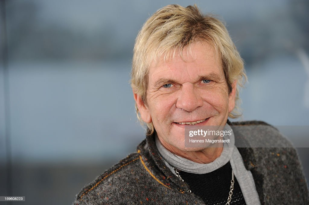 Singer Matthias Reim poses during the Matthias Reim portrait Session at the Universal Music GmbH on January 17, 2013 in Munich, Germany.