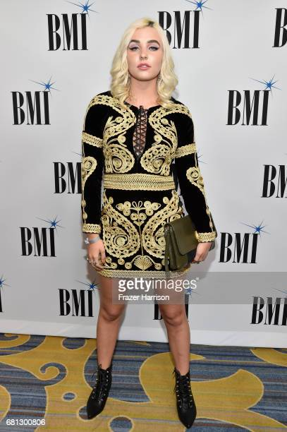 Singer Maty Noyes at the Broadcast Music Inc honors Barry Manilow at the 65th Annual BMI Pop Awards on May 9 2017 in Los Angeles California