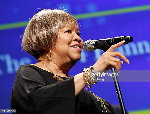 Singer Mavis Staples performs at the Parenthood Federation Of America's 2014 Gala Awards Dinner at the Marriott Wardman Park Hotel on March 27 2014...