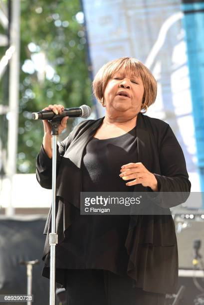 Singer Mavis Staples performs during the 2017 BottleRock Napa Valley Festival on May 27 2017 in Napa California