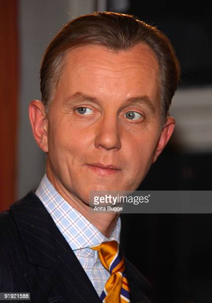 Singer Max Raabe attends the taping of the birthday show for singer Thomas Quasthoff on October 15 2009 in Berlin Germany