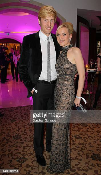 Singer Maxi Arland and wife Andrea Arland attend the award ceremony of the 'Felix Burda Award' at the Hotel Adlon Unter den Linden on April 22 2012...