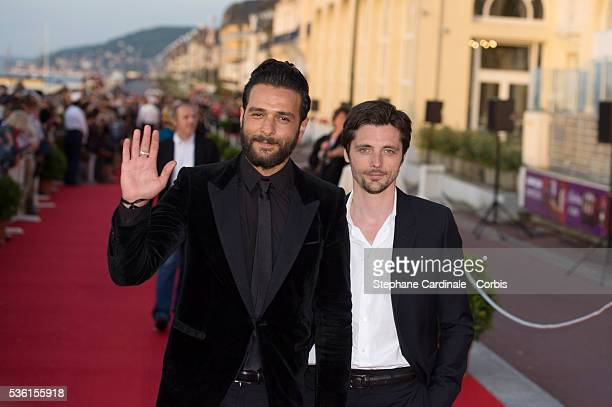 Singer Maxim Nucci and actor Raphael Personnaz attend the closing Ceremony of the 29th Cabourg Romantic Film Festival on June 13 2015 in Cabourg...