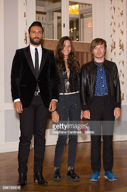 Singer Maxim Nucci singer Vanille Clerc and musician JeanBenoit Dunckel attend the 29th Cabourg Romantic Film Festival on June 11 2015 in Cabourg...