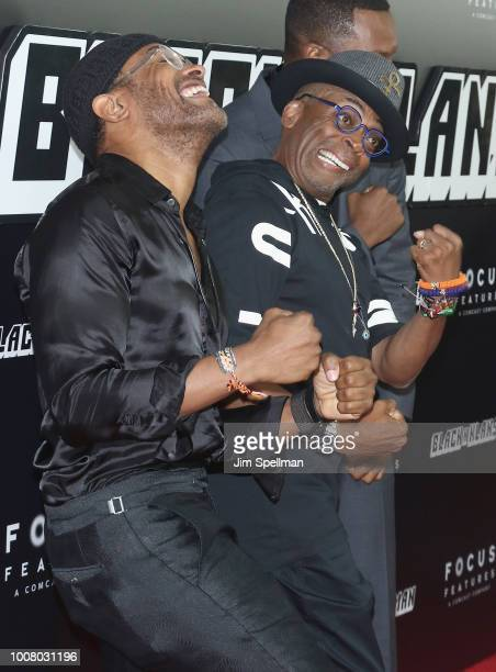 Singer Maxwell and director Spike Lee attend the 'BlacKkKlansman' New York premiere at Brooklyn Academy of Music on July 30 2018 in New York City