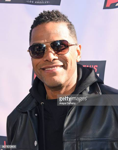 Singer Maxwell at 2018 Women's March Los Angeles at Pershing Square on January 20 2018 in Los Angeles California