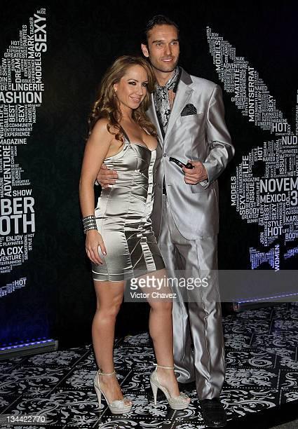 Singer Maya Karunna and her husband Roberto Vidales attend the Christmas Playboy Mexico magazine party at the Ragga Antara Polanco on November 30...
