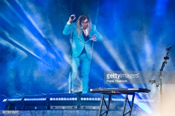 Singer Maynard James Keenan of the American band A Perfect Circle performs live on stage during a concert at the Zitadelle Spandau on June 17 2018 in...