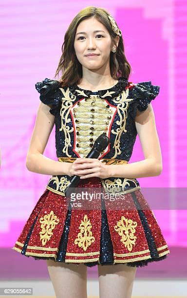 Singer Mayu Watanabe of Japanese girl group AKB48 performs onstage during AKB48 fan meeting on December 10, 2016 in Shanghai, China.