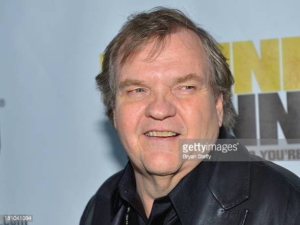 Singer Meat Loaf arrives at the world premiere of Twentieth Century Fox and New Regency's film 'Runner Runner' at Planet Hollywood Resort & Casino on...
