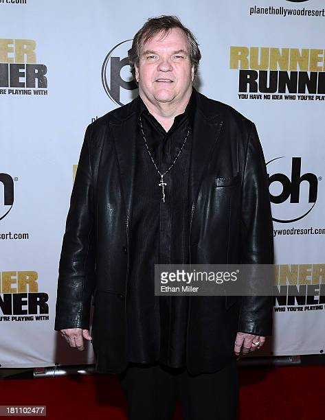 Singer Meat Loaf arrives at the world premiere of Twentieth Century Fox and New Regency's film Runner Runner at Planet Hollywood Resort Casino on...