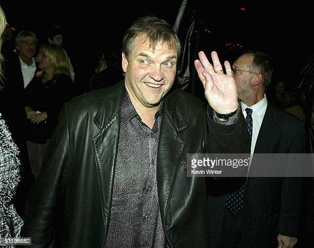Singer Meatloaf attends the afterparty for the premiere of DreamWorks Pictures' Collateral at the Orpheum Theatre on August 2 2004 in Los Angeles...