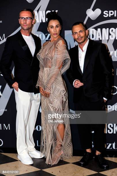 Singer 'Medina' appears together with host for the evening Kim Grenaa and Uffe Buchard at DANSK Magazine gala dinner at the Glyptotek art museum,...