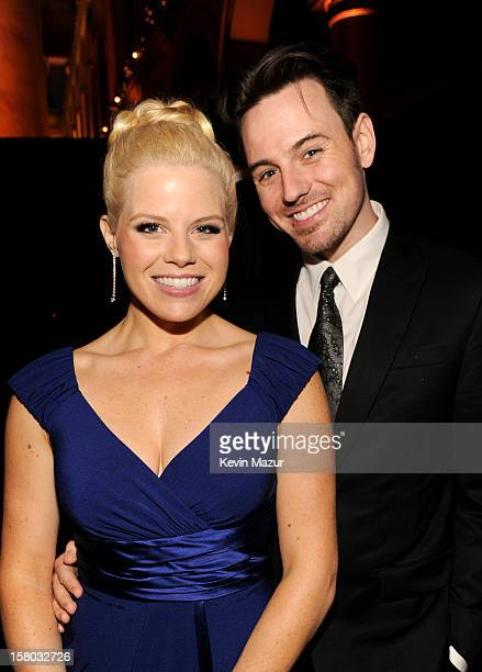 Singer Megan Hilty and Brian Gallagher attend TNT Christmas in Washington 2012 at National Building Museum on December 9 2012 in Washington DC...