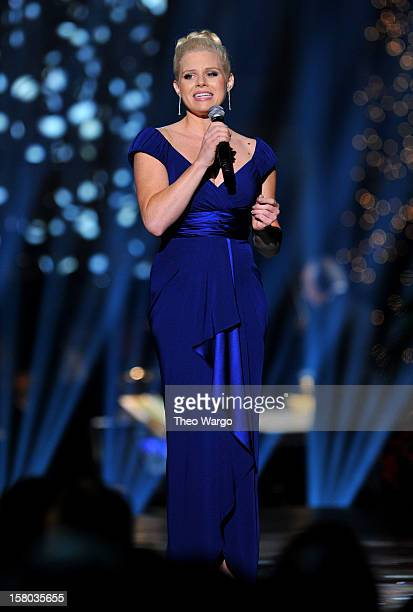 Singer Megan Hilty performs onstage during TNT Christmas in Washington 2012 at National Building Museum on December 9 2012 in Washington DC...