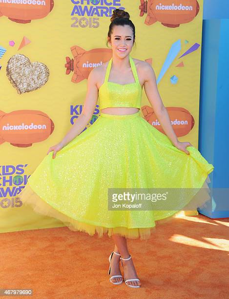 Singer Megan Nicole arrives at Nickelodeon's 28th Annual Kids' Choice Awards at The Forum on March 28 2015 in Inglewood California