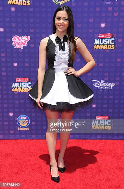 Singer Megan Nicole arrives at the 2016 Radio Disney Music Awards at Microsoft Theater on April 30 2016 in Los Angeles California