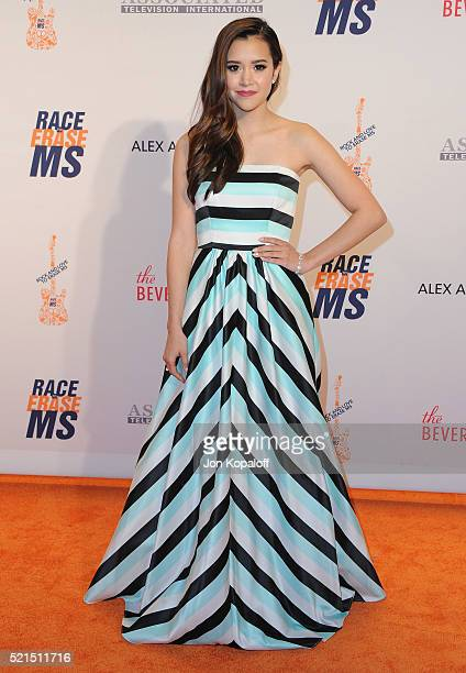 Singer Megan Nicole arrives at the 23rd Annual Race To Erase MS Gala at The Beverly Hilton Hotel on April 15 2016 in Beverly Hills California