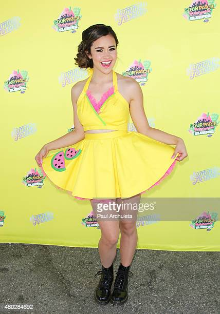 Singer Megan Nicole attends the event celebrate 7Eleven Slurpee Day at 7Eleven on July 10 2015 in Burbank California