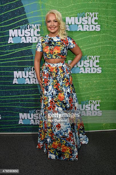 Singer Meghan Linsey attends the 2015 CMT Music awards at the Bridgestone Arena on June 10 2015 in Nashville Tennessee