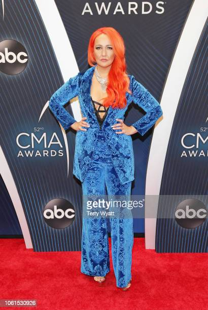 Singer Meghan Linsey attends the 52nd annual CMA Awards at the Bridgestone Arena on November 14 2018 in Nashville Tennessee