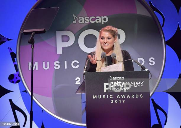 Singer Meghan Trainor accepts the 'Vanguard Award' onstage at the 2017 ASCAP Pop Awards at The Wiltern on May 18 2017 in Los Angeles California