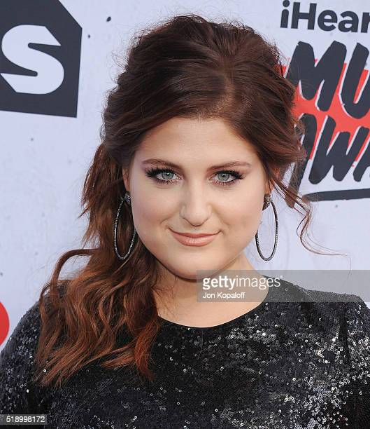 Singer Meghan Trainor arrives at iHeartRadio Music Awards on April 3 2016 in Inglewood California