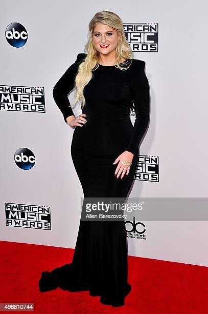 Singer Meghan Trainor arrives at the 2015 American Music Awards at Microsoft Theater on November 22 2015 in Los Angeles California