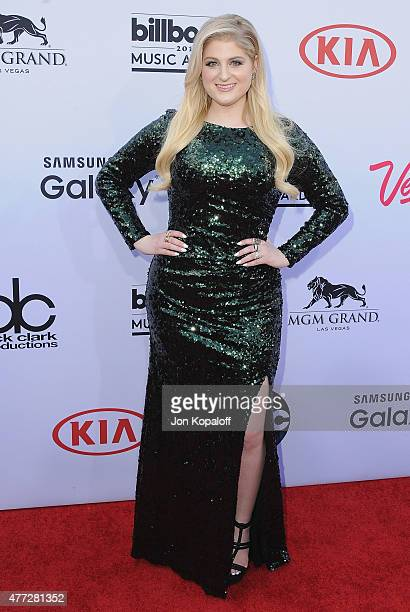 Singer Meghan Trainor arrives at the 2015 Billboard Music Awards at MGM Garden Arena on May 17 2015 in Las Vegas Nevada