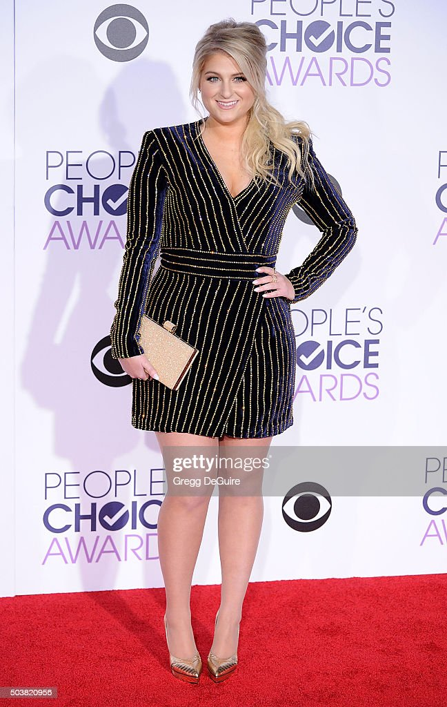 Singer Meghan Trainor arrives at the 2016 People's Choice Awards at Microsoft Theater on January 6, 2016 in Los Angeles, California.
